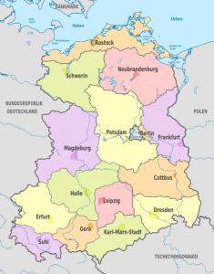 Bezirkskarte DDR