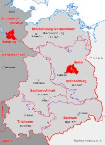Vergleich Länder der frühen DDR-neue Bundesländer