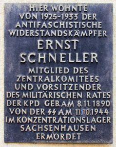 Gedenktafel Ernst Schneller