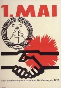 1. Mai DDR-Plakat 20 jahre DDR