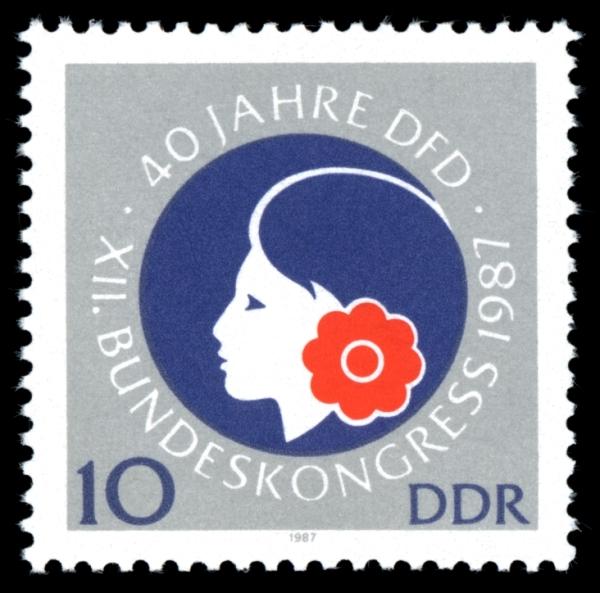 DDR-Briefmarke 1987 40 Jahre DFD
