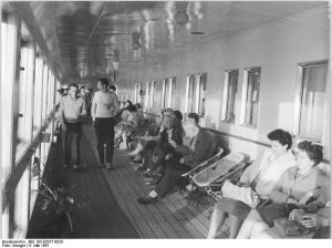 Zentralbild Krueger 9.5.1961 Erste Fahrt des FDGB-Urlauberschiffes
