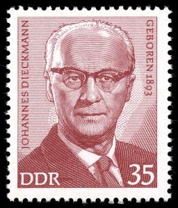 Briefmarke Johannes Dieckmann
