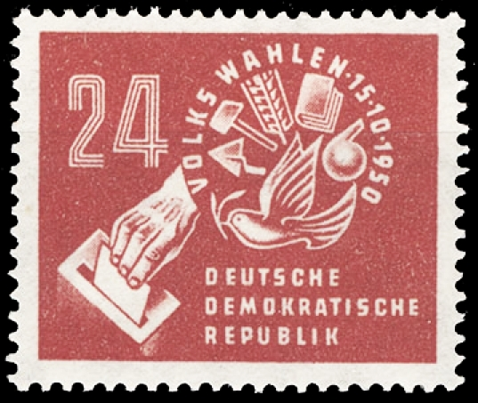 Briefmarke zur ersten Volkskammerwahl