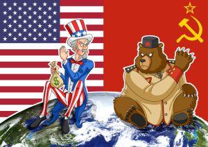 Karikatur Kalter Krieg