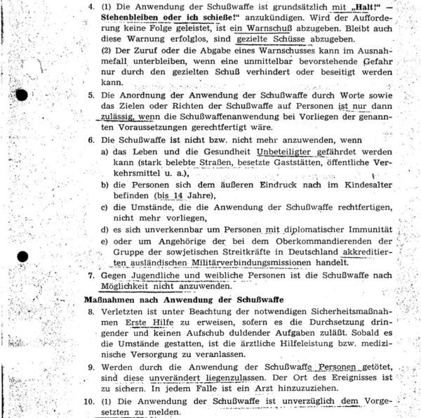 Auszug Schusswaffenanwendungsordnung 1978
