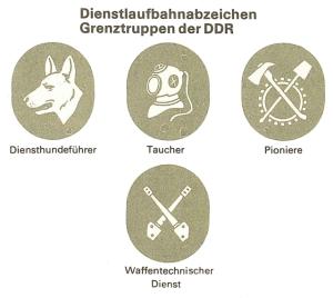 Dienstlaufbahnabzeichen der Grenztruppen.