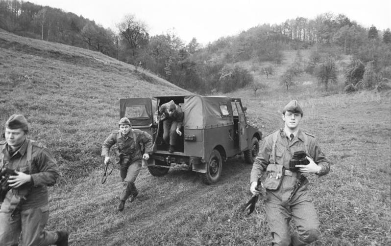 Einsatzübung im Kreis Mühlhausen am 27. März 1982