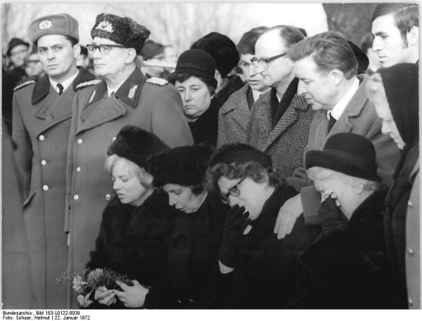 Ahlsdorf, NVA-Leutnant Lutz Meier, Beisetzung