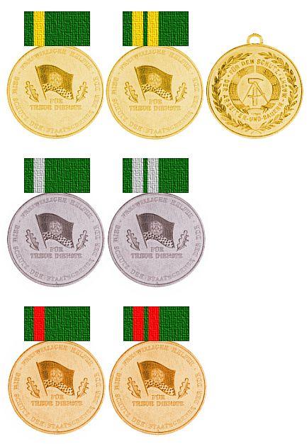 Weitere Einzelheiten Medaille für treue Dienste freiwilliger Helfer beim Schutz der Staatsgrenze der Deutschen Demokratischen Republik