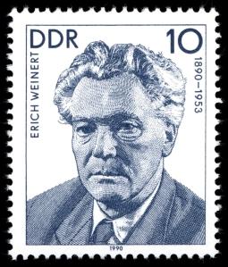 Erich Weinert auf einer DDR-BReifmarke von 1990