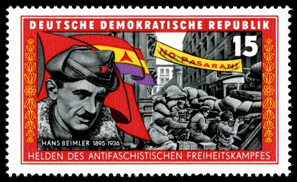 Hans Beimler auf DDR-Briefmarke