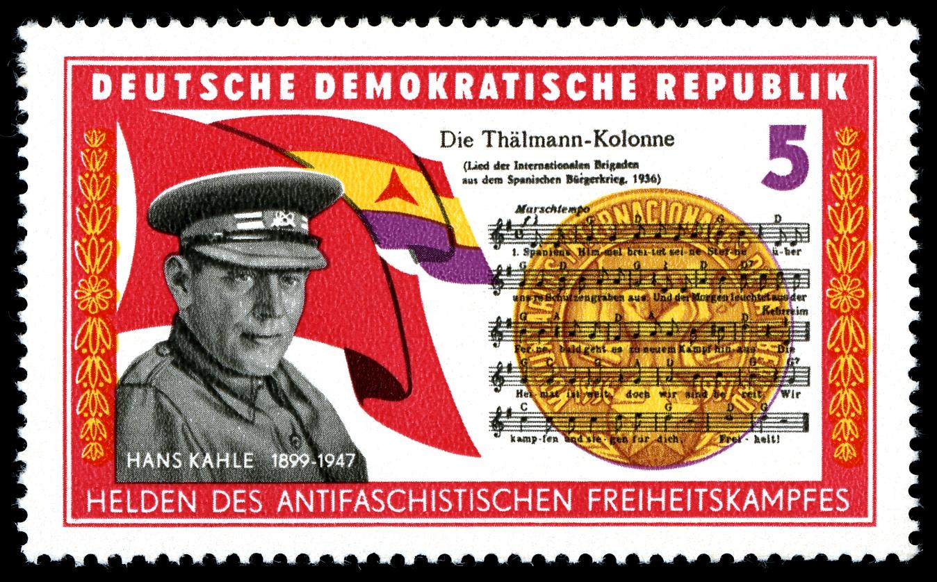 Hans Kahle auf einer Briefmarke der DDR