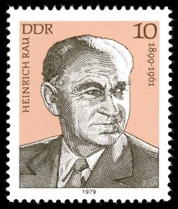 Heinrich Rau auf einer DDR-Briefmarke von 1979