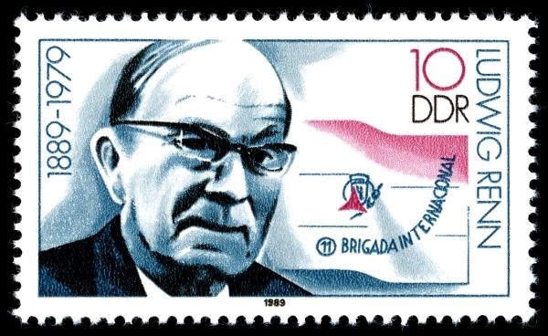 Ludwig Renn (DDR-Briefmarke 1989)