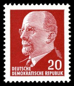 Walter <ulbricht auf Briefmarke 1961