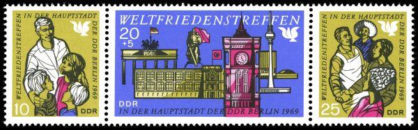 Briefmarken der DDR zum Weltfriedenstreffen in Berlin 1969