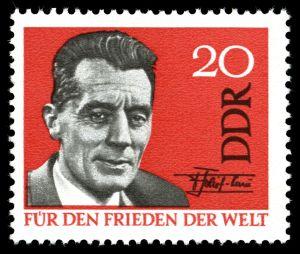 Frédéric Joliot-Curie, Briefmarke der DDR 1964