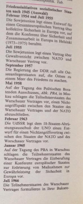 Friedensinsitativen sozialistischer Staaten 1