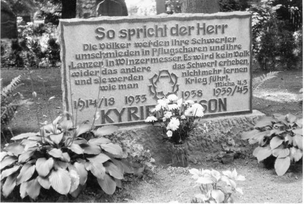 Gedenkstein in Gramzow