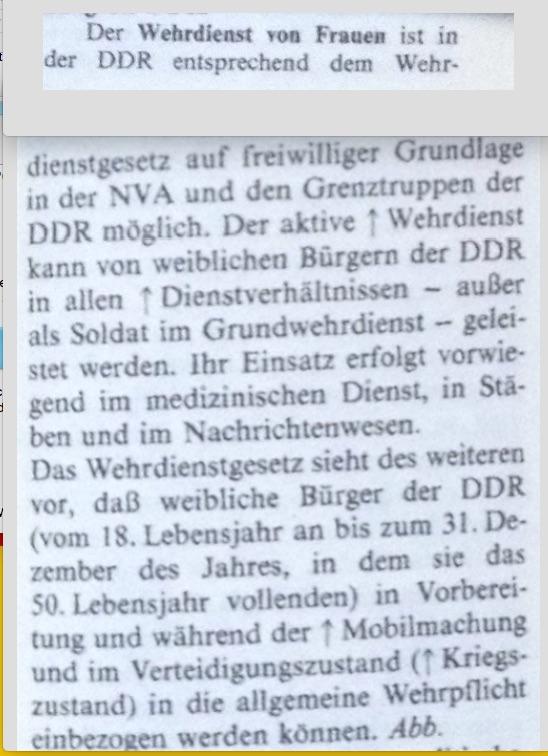 Wehrdienst Frauen in der DDR JEPG