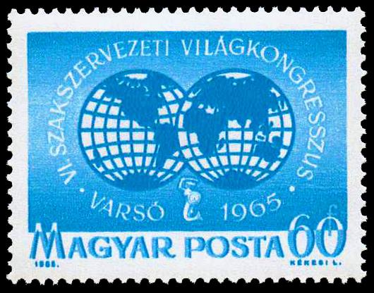 Darstellung auf einer ungarischen Sondermarke 1965