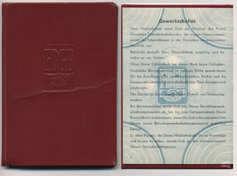 DDR_FDGB_Mitgliedsbuch