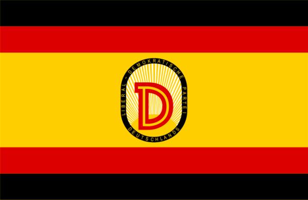 Parteiflagge der LDPD