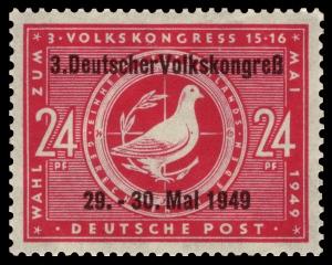 Sonderbriefmarke zur Tagung des 3. Volkskongresses (Sowjetische Besatzungszone 1949)