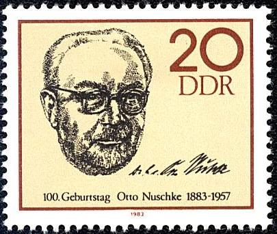 DDR 1983 Briefmarke 100. Geburtstag Otto Nuschke
