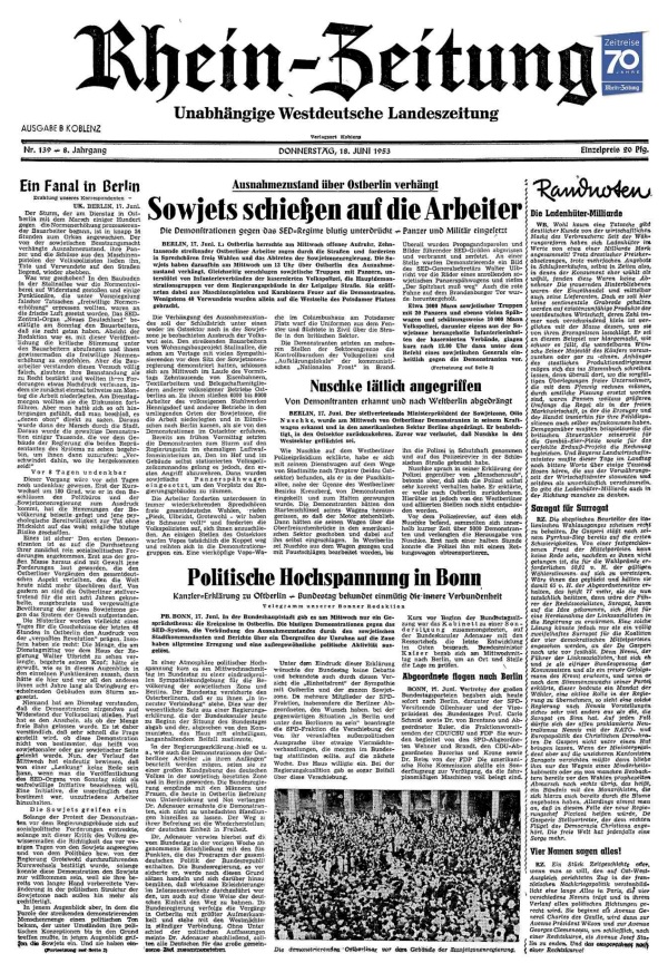 Historischer Artikel RZ 17. Juni Bild