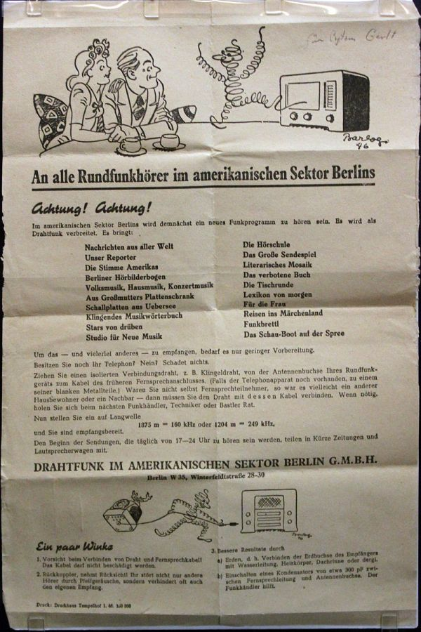 Januar 1946 Werbeblatt für DIAS