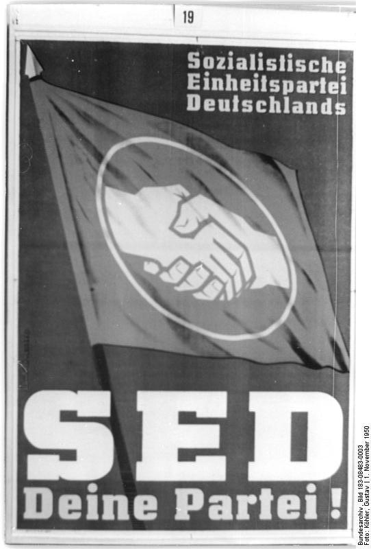 """SED-Plakat """"SED - Deine Partei!"""""""