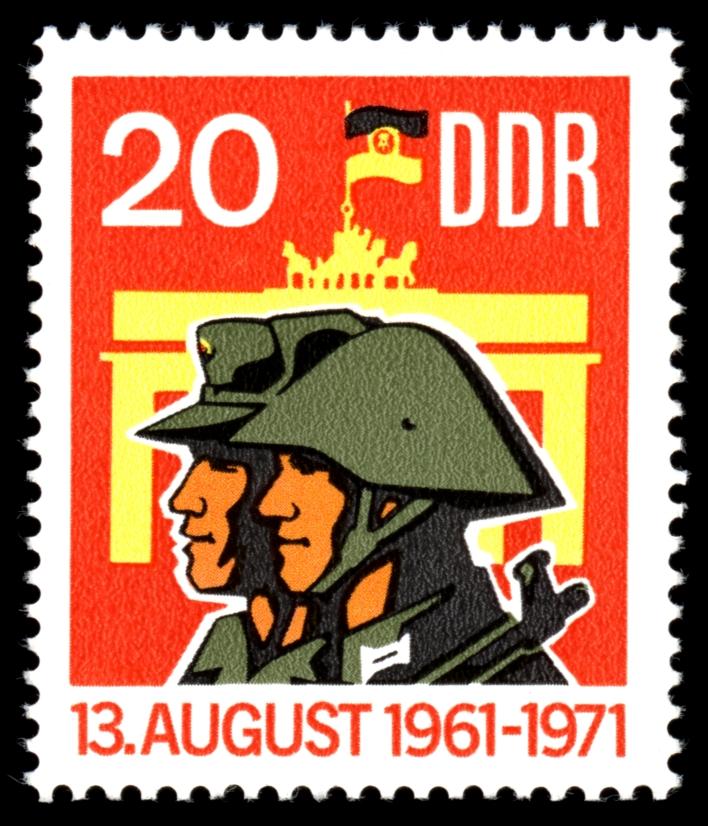 10  Jahre Antifaschistischer Schutzwall Briefmarke der DDR von 1971