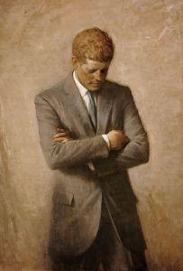 Kennedys offizielles Porträt im Weißen Haus Kopie