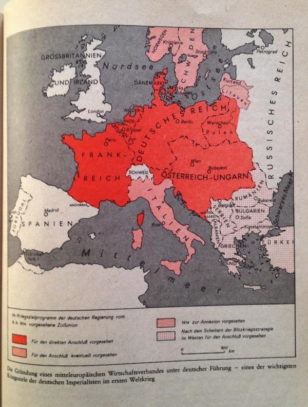 Kriegsziel 1. Weltkrieg Gründung mitteleuropäischer Wirtschaftsverband
