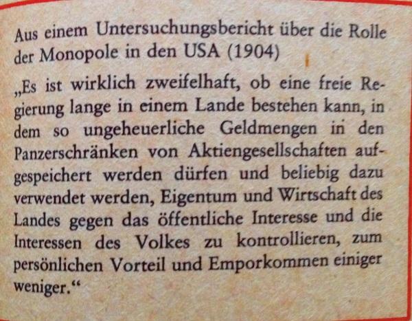 Untersuchungsbericht von 1904 über die Rolle der Monopole
