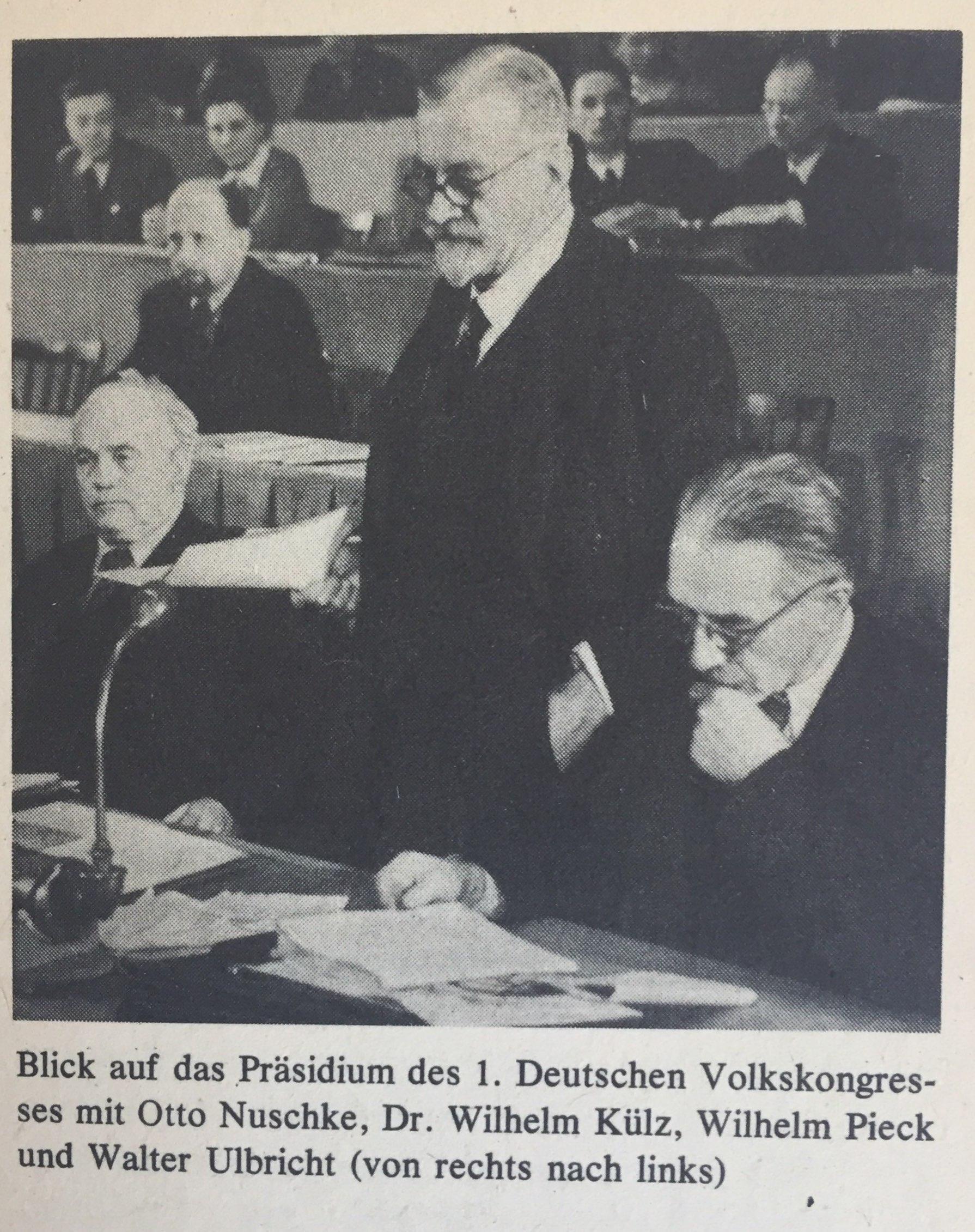 Präsidium Deutscher Volkskongress