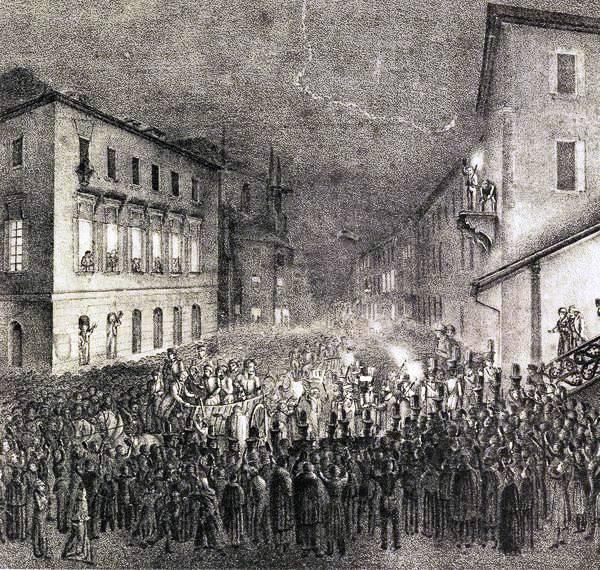 empfang-der-ersten-abteilung-polnischer-freiheitskampfer-des-novemberaufstandes-in-neustadt-1832