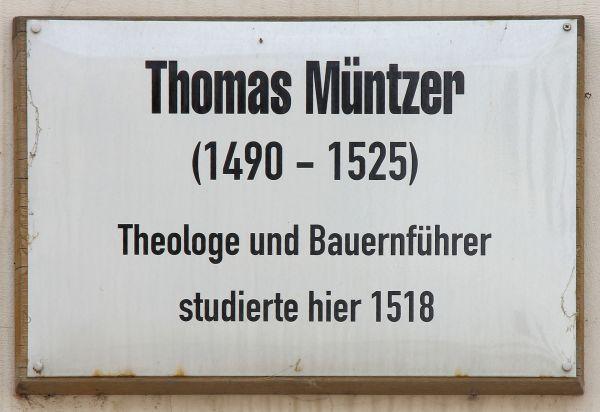 Gedenktafel am Haus Schloßstraße 26, in der Lutherstadt Wittenberg