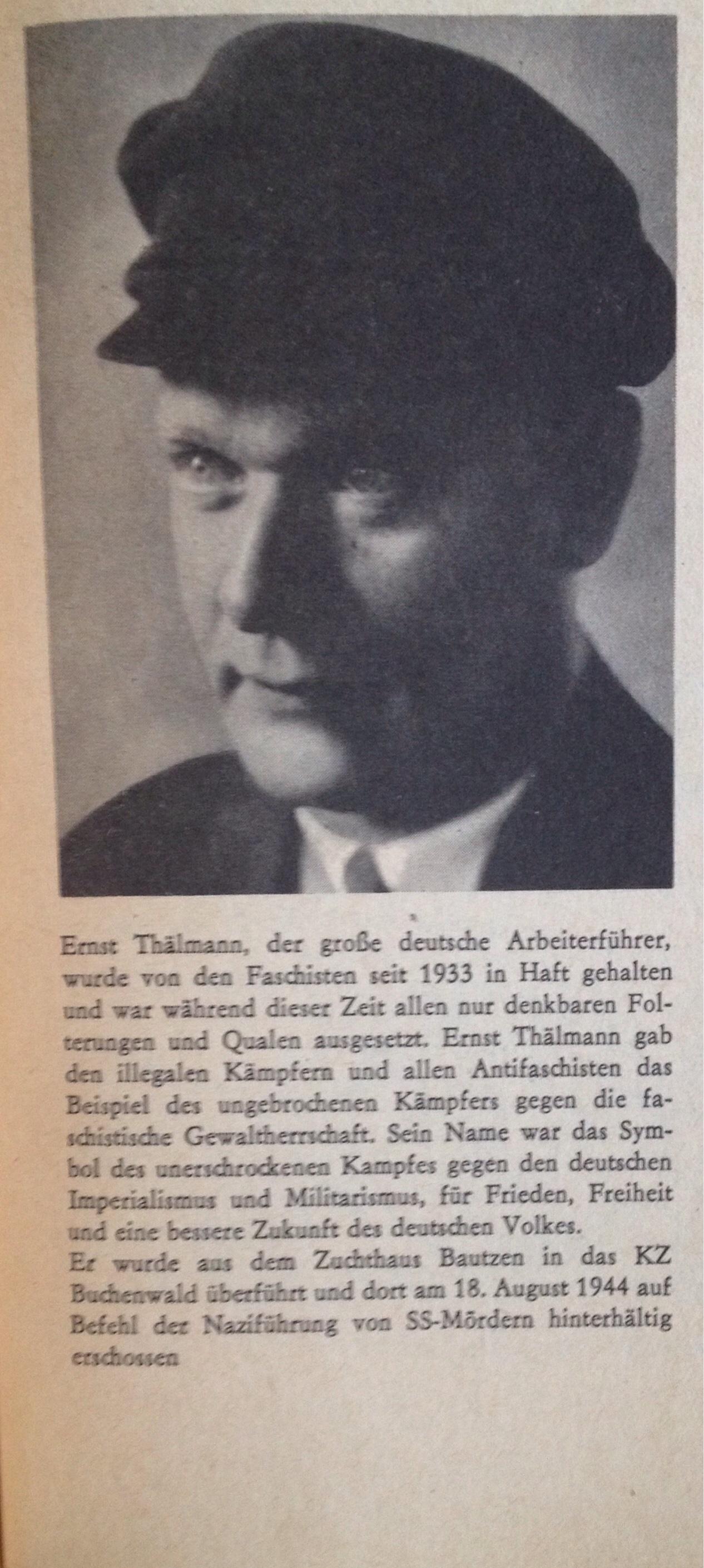 Kurzbeschreibung Ernst Thälmann