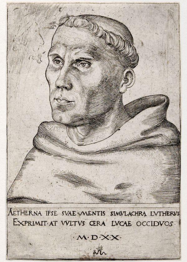 Luther als Augustinermönch (Lucas Cranach der Ältere, 1520)
