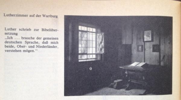 Luther-Zimmer auf der Wartburg