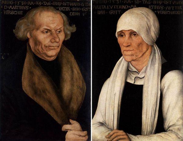 Luthers Eltern Hans und Margarethe Luther (Lucas Cranach der Ältere)