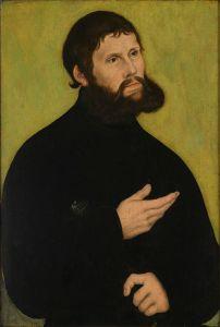 """Martin Luther als """"Junker Jörg"""". Lucas Cranach der Ältere, 1522"""
