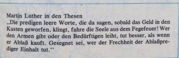 Martin Luther in Thesen