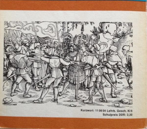Rücktitelbild Geschichtsbuch DDR, 6 Klasse