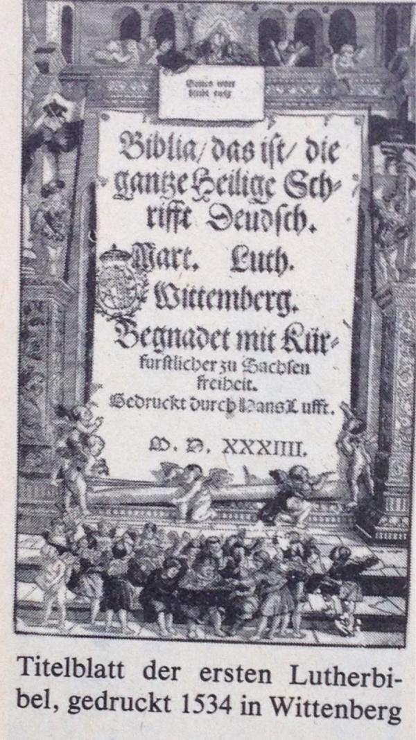 Titelblatt der 1.Lutherbibel