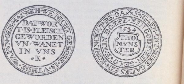 Wiedertäufermünze aus Münster, 1534