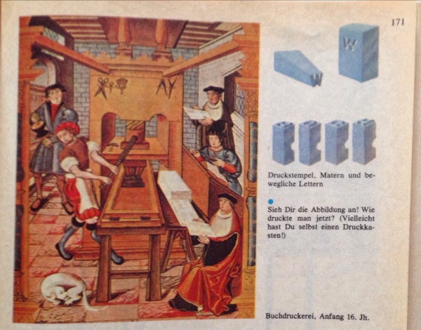 Buchdruckerei Anfang 16. Jahrhundert